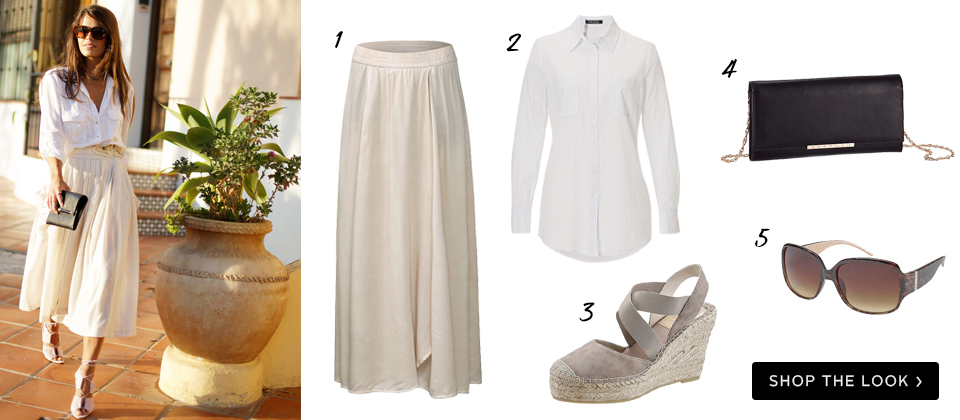 klassieke witte blouse