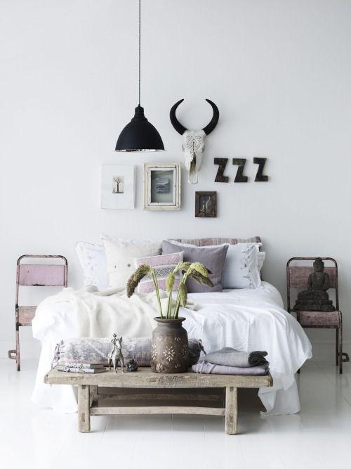 Skull slaapkamer living trend