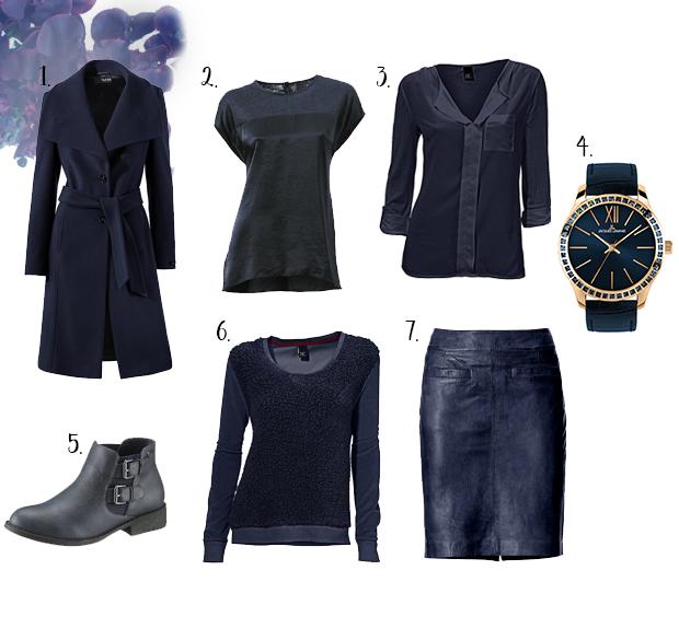 Marineblauwe kleding