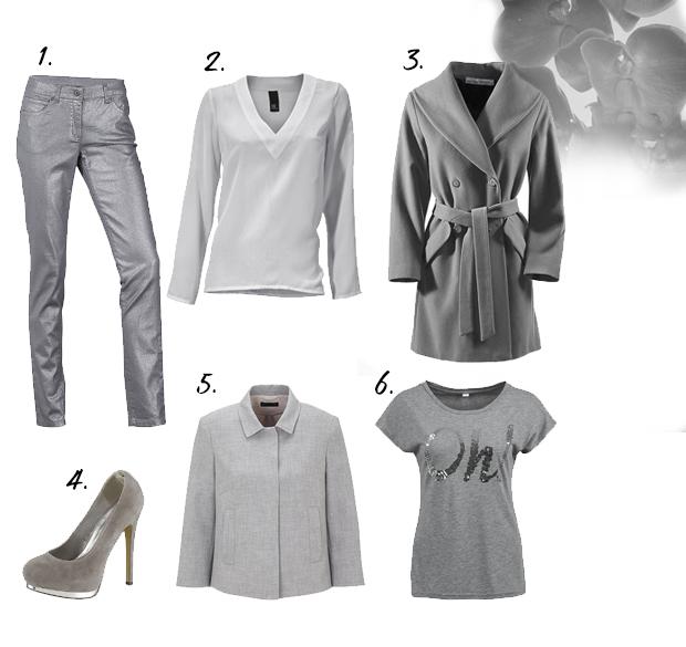 Zilvergrijze kleding