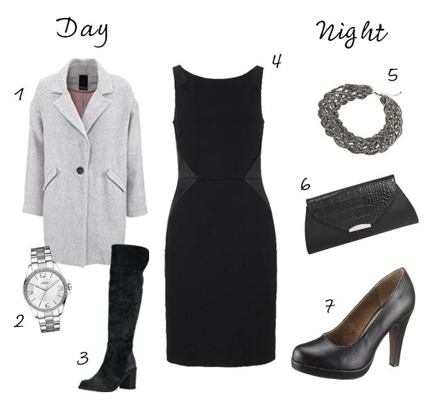 Day to night outfit zwarte jurk