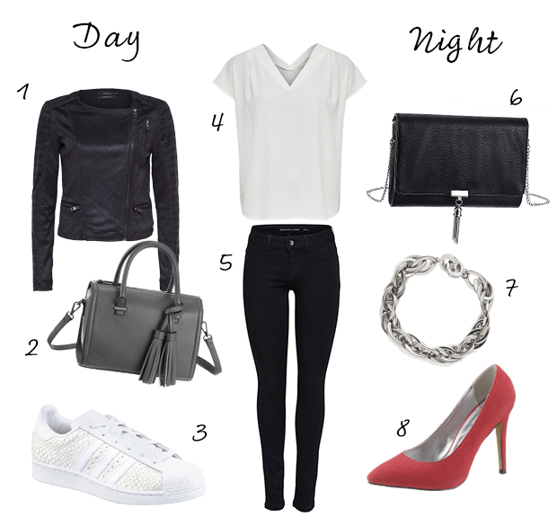 Day to night outfit jeans en shirt