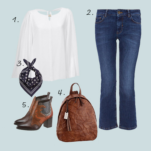outfit cropped flared jeans