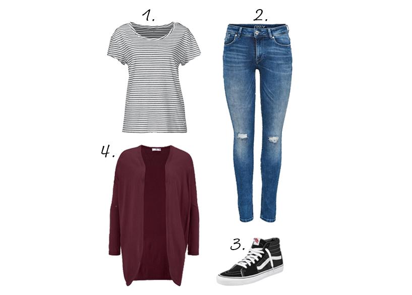 streepjes shirt casual jeans