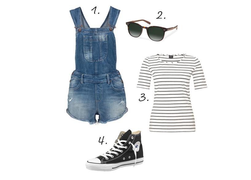 korte tuinbroek outfit