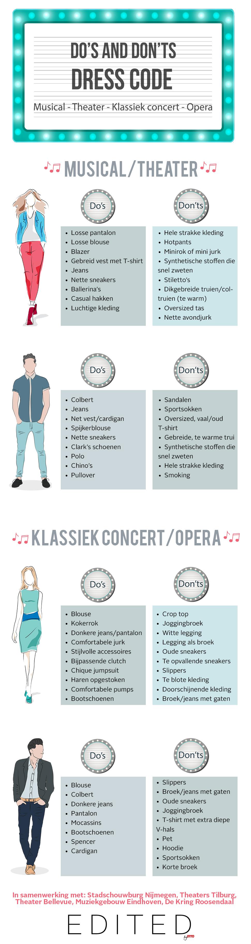 wat draag je naar een musical?