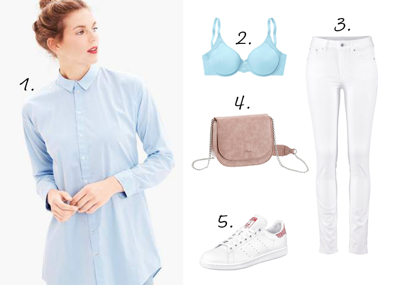 Pasteloutfit blouse