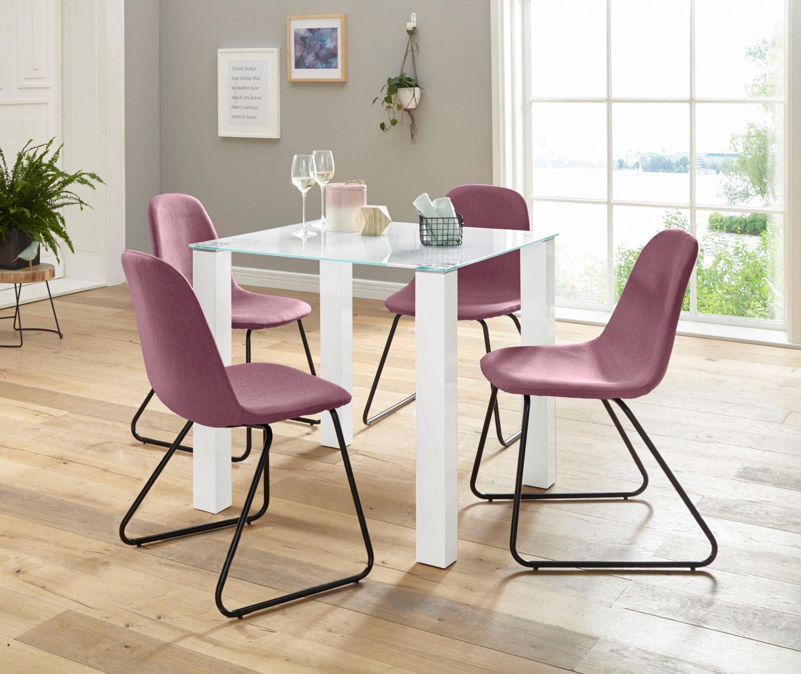 Roze eetkamerstoelen