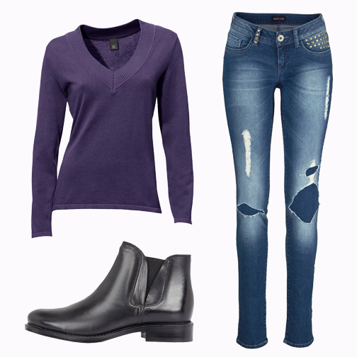 outfit paars