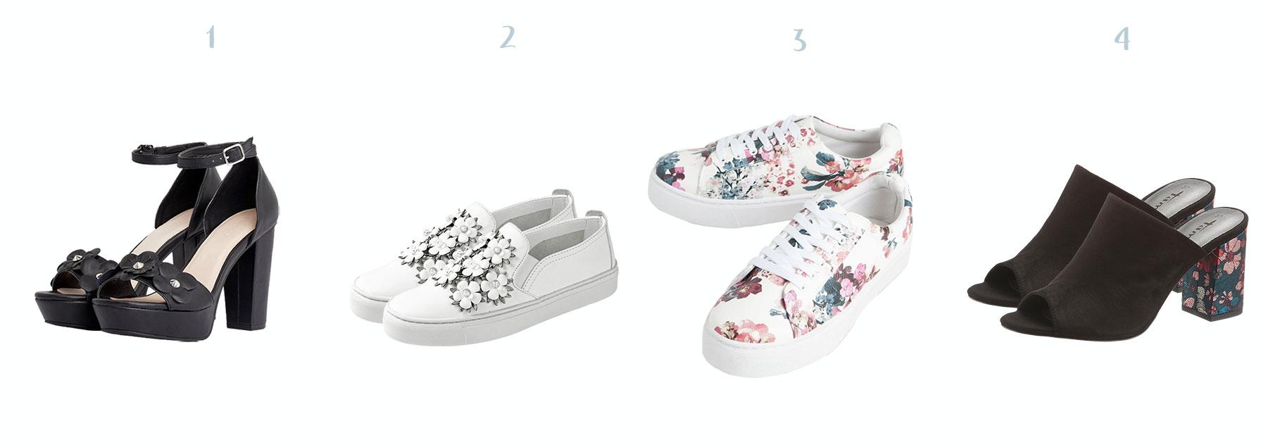bloemenprint schoenen