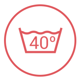 kleding wassen icoon 40 graden
