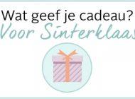 Wat geef je cadeau voor Sinterklaas?