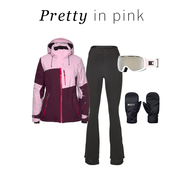 Ski outfit pretty in pink