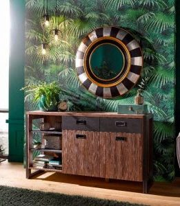 trendy industrial-look sideboard