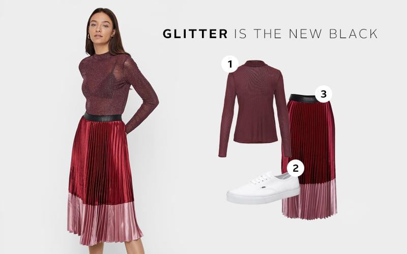 Outfit inspiratie: glittertop combineren in everyday look