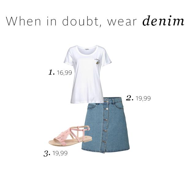 Zomer outfit inspiratie: spijkerrokjes