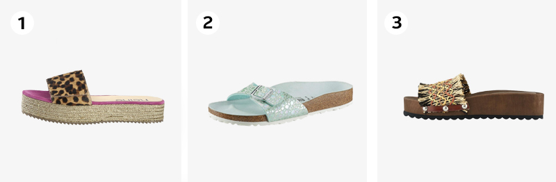 Zomerse slippers