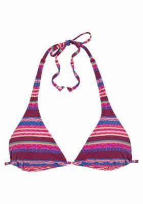 Bikinitop met roze streepjes