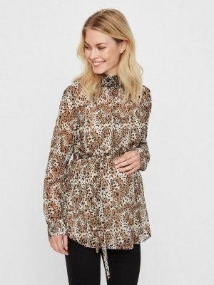 Zwangerschapskleding: blouse met luipaardprint
