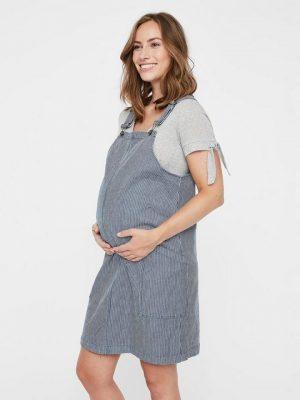 Zwangerschapskleding: overall met streepjes