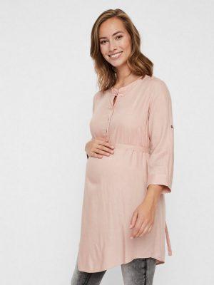 Zwangerschapskleding: roze blouse