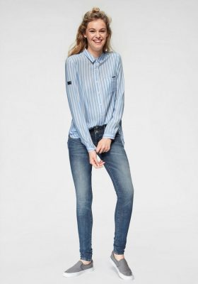 Blauw gestreepte blouse