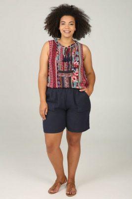 Paprika mode top met etnische print