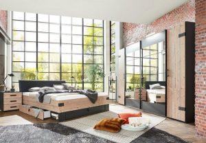 Complete slaapkamer industriële stijl