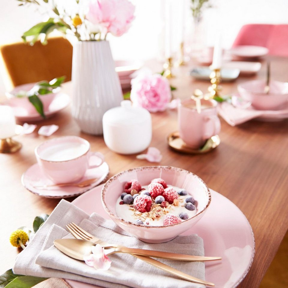 high tea tafel roze