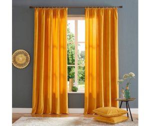 Gordijnen, trendy kleur geel