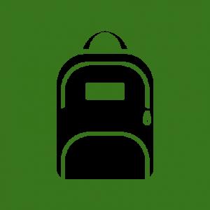 Stedentrip rugzak icoon