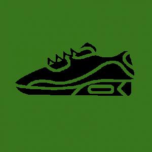 Icoon sneakers en kleding stedentrip