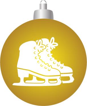 Schaatsen kerst bal