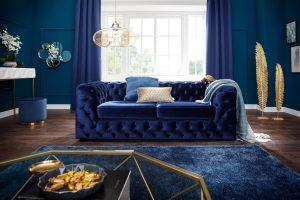 Blauwe bank, blauwe details