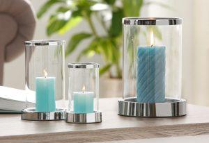Kaarsen voor slaapkamer in het blauw