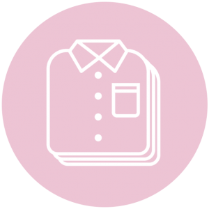 icoon stapel overhemden roze