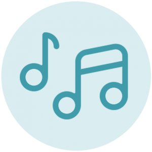 Icoon muzieknoten