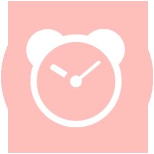 Icoon klok met de tijd