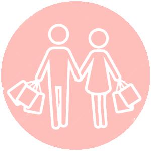 mensen die samen winkelen
