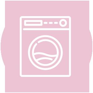 Icoon van een wasmachine in het roze