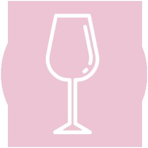 Icoon van een glas wijn