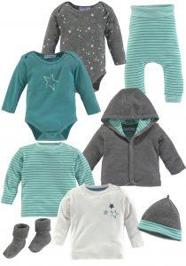 Babykleding voor de baby uitzetlijst
