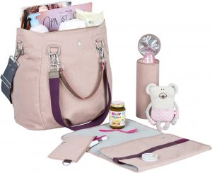 Roze luiertas voor baby uitzetlijst