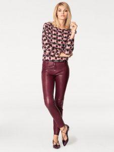 modetrends rode leren broek