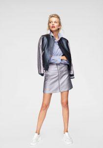 Modetrends: metallic leren outfit