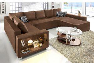 Lounge bank bruin slaapkamertest