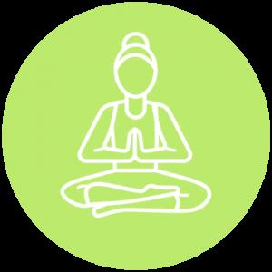 Icoon groen yoga