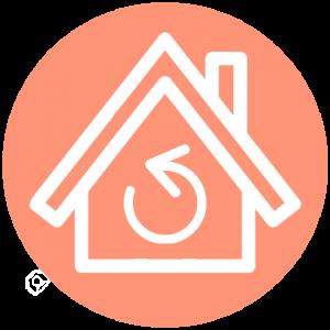 Huis ruil icoon