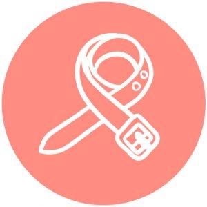 Accessoires icoon broekriem