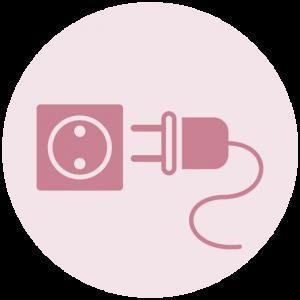 Icoon stekker uit het stopcontact